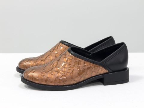 Женские весенние туфли из натуральной кожи на маленьком каблуке