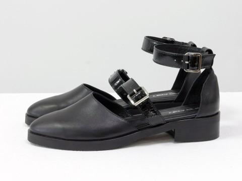Черные туфли из кожи, Д-23-04
