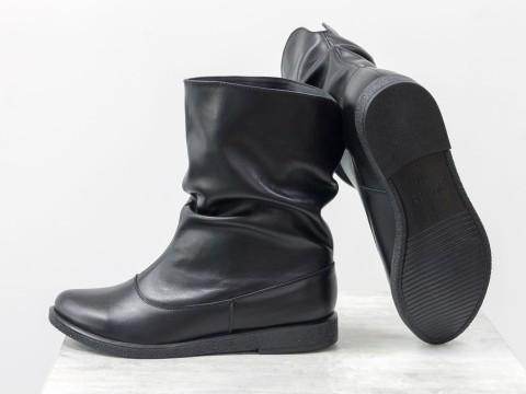 Удобные ботинки из натуральной замши черного цвета, М-21