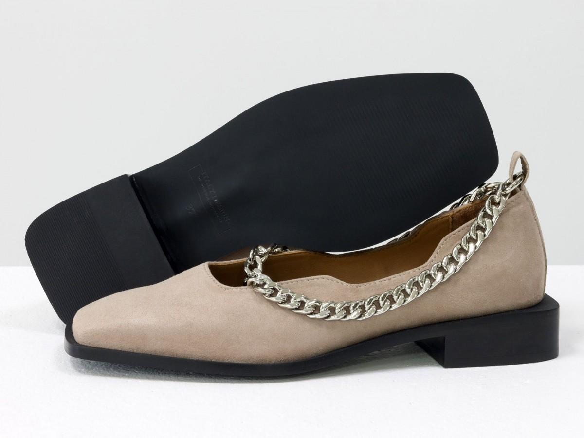 Женские бежевые туфли на низком ходу замшевые купить ...