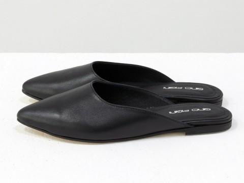 Черные бабуши из кожи, Т-17428-04