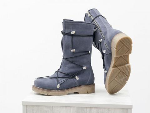 Спортивные женские ботинки из замши серого цвета, Б-17461-04